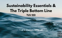 TUS100 – Sustainability Essentials & The Triple Bottom Line